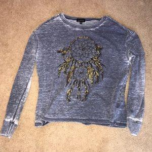 blue dreamcatcher sweater